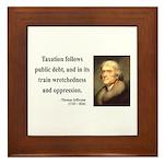 Thomas Jefferson 26 Framed Tile