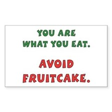 Avoid Fruitcake Rectangle Decal