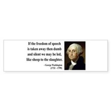 George Washington 3 Bumper Bumper Sticker