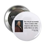 "Benjamin Franklin 1 2.25"" Button (10 pack)"
