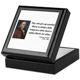 Benjamin Franklin 1 Keepsake Box