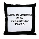 Colombian Parts Throw Pillow