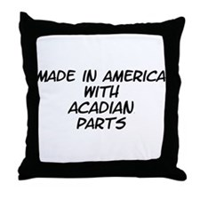 Acadian Parts Throw Pillow