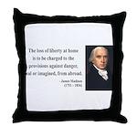 James Madison 3 Throw Pillow