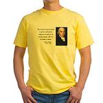 James Madison 9 Yellow T-Shirt