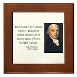 James Madison 9 Framed Tile