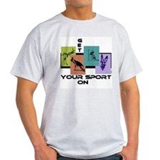 GSD Get Your Sport On- Ash Grey T-Shirt