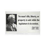 Mark Twain 39 Rectangle Magnet
