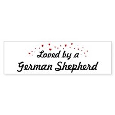 Loved By German Shepherd Bumper Bumper Sticker