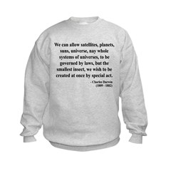 Charles Darwin 5 Kids Sweatshirt