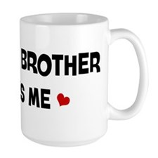 Little Brother loves me Large Mug