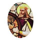 King David the Psalmist Oval Ornament