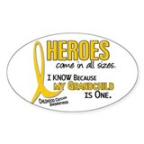 Heroes All Sizes 1 (Grandchild) Oval Decal