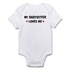 Babysitter loves me Infant Bodysuit