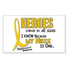 Heroes All Sizes 1 (Niece) Rectangle Decal