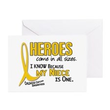 Heroes All Sizes 1 (Niece) Greeting Cards (Pk of 2