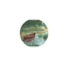Red Canoe Mini Button
