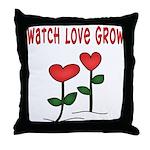 Watch Love Grow Throw Pillow