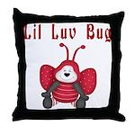 Lil Luv Bug Throw Pillow