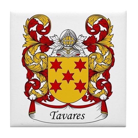 Tavares Family Crest Tile Coaster