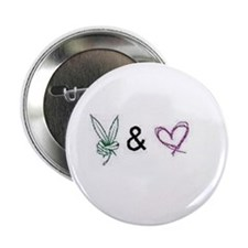 "Peace and Love 2.25"" Button"