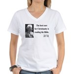 Mark Twain 20 Women's V-Neck T-Shirt