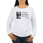 Mark Twain 20 Women's Long Sleeve T-Shirt