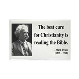 Mark Twain 20 Rectangle Magnet