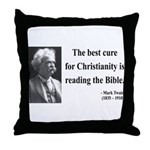 Mark Twain 20 Throw Pillow