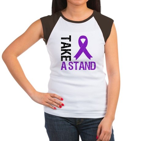 PancreaticCancer TakeAStand Women's Cap Sleeve T-S