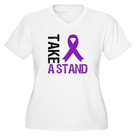 PancreaticCancer TakeAStand Women's Plus Size V-Ne