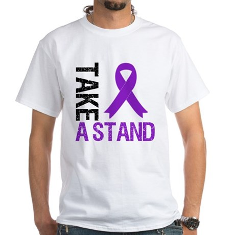 PancreaticCancer TakeAStand White T-Shirt