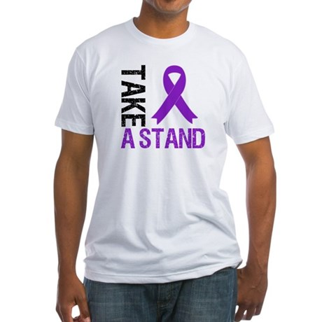 PancreaticCancer TakeAStand Fitted T-Shirt