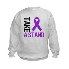 PancreaticCancer TakeAStand Kids Sweatshirt