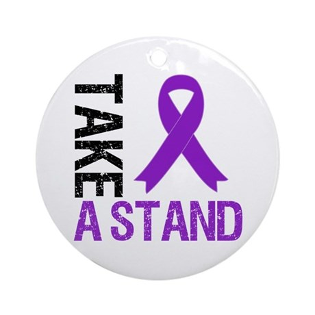 PancreaticCancer TakeAStand Ornament (Round)