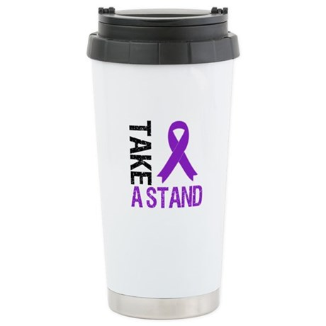PancreaticCancer TakeAStand Ceramic Travel Mug