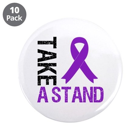 "PancreaticCancer TakeAStand 3.5"" Button (10 pack)"