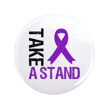 "PancreaticCancer TakeAStand 3.5"" Button"