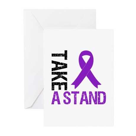 PancreaticCancer TakeAStand Greeting Cards (Pk of