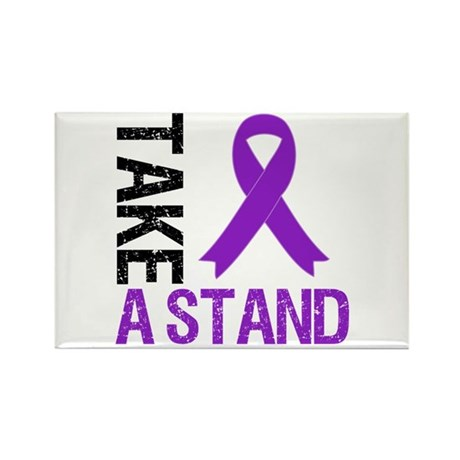 PancreaticCancer TakeAStand Rectangle Magnet (10 p