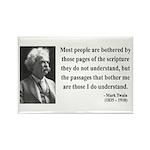 Mark Twain 21 Rectangle Magnet (100 pack)