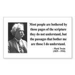 Mark Twain 21 Rectangle Sticker