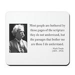 Mark Twain 21 Mousepad