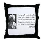 Mark Twain 21 Throw Pillow