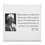 Mark Twain 21 Tile Coaster