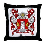 Torre Family Crest Throw Pillow