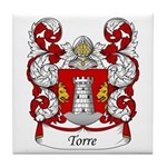 Torre Family Crest Tile Coaster