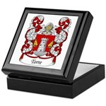 Torre Family Crest Keepsake Box
