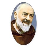 Padre Pio Oval Decal
