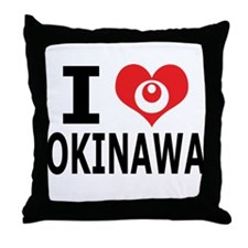 Cute Okinawa Throw Pillow